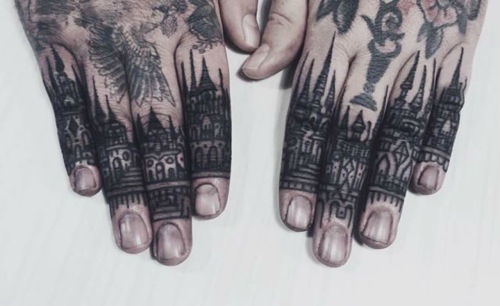 thievinggenius:  Tattoo done by Thieves of Tower.