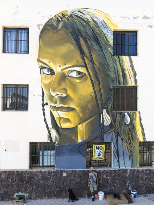 veryprivateart:Street art by Sabotaje al Montaje - Fuerteventura, Canary Islands, Aug 2015