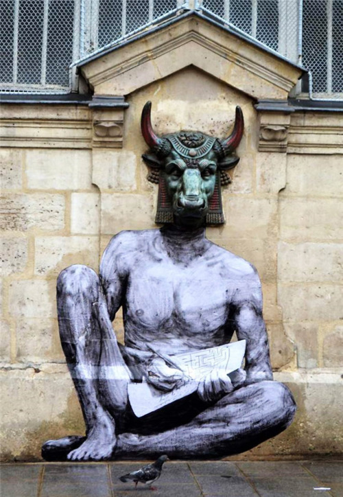 veryprivateart:Minotaure by Charles Levalet  Paris, 2015