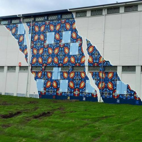 widewalls-artmagazine:   Live action from NUART FESTIVAL - a beautiful wall by Add Fuel in StavangerPhoto: Toris64