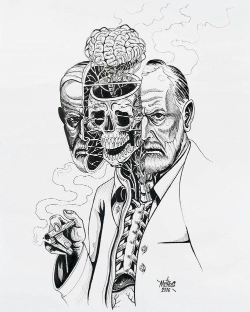 noisemx:  Nychos (the Weird) - Dissection of Sigmund Freud (2016).