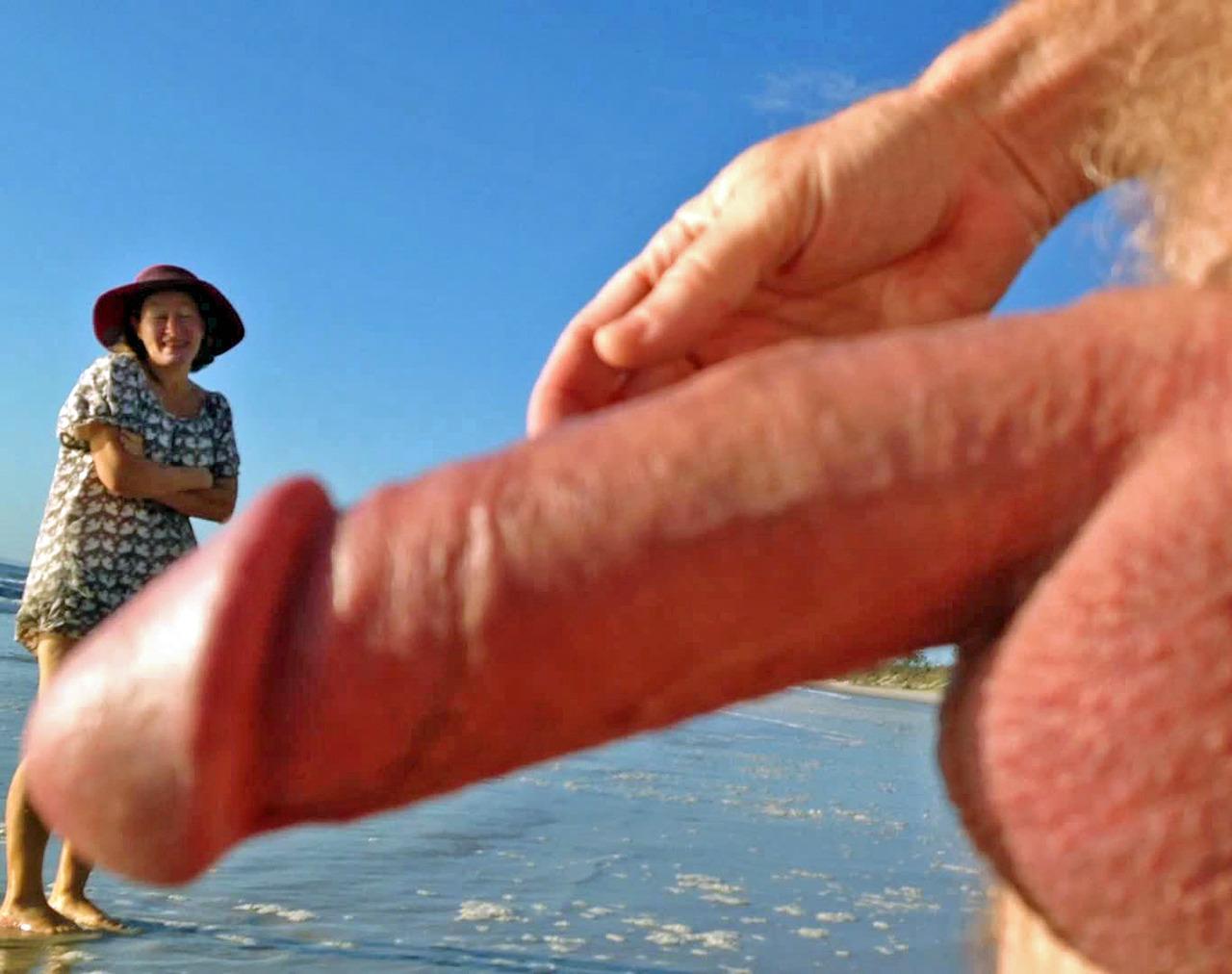 Talk, cfnm boner nude beach erection cheaply got
