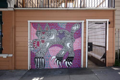 streetartsf:Paws across the World.Mike Kershnar.Oak @ Divisadero St in San Francisco, CASee other art by Kershnarhttps://www.streetartsf.com/tag/michael-kershnar/