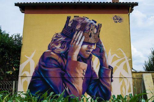 "streetartglobal:  ""Italia turrita"" by Wasp in Italy. [http://globalstreetart.com/wasp]. #GlobalStreetArt #Wasp https://www.instagram.com/p/BJEQo85jDhp/"