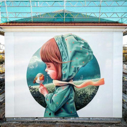 streetartglobal:  Great work by @linuslundin in Sweden (http://globalstreetart.com/yash) #globalstreetart #yash #linuslundin https://www.instagram.com/p/BLR3HQ7A7e4/