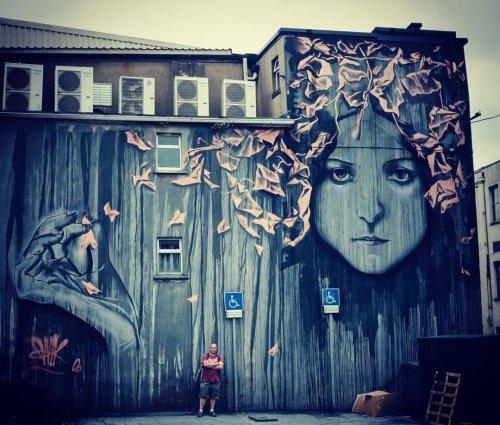 streetartnews:  @jonnymckerr - Waterford ,Irelandwww.arteymuros.comstreetartnews.tumblr.com#art #mural #graffiti #streetart