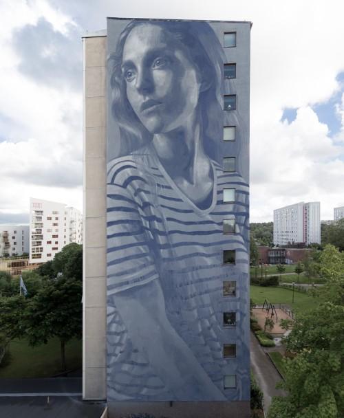 """zeds:   """"Emma"""" by RONE in Gothenburg, Sweden"""