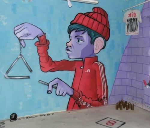 streetartglobal:  Indoor Art by @kidcrayon1#globalstreetart #germany #ibug #kid #muralhttp://globalstreetart.com/kidcrayon https://www.instagram.com/p/BKicqxFjaDC/