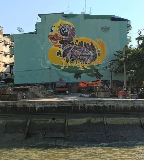 bizarrebeyondbelief:  Fresh mural work by Austrian #graffiti artist @nychos for the Bukruk Street Art Festival.More here: http://wp.me/p2dpFM-3u3