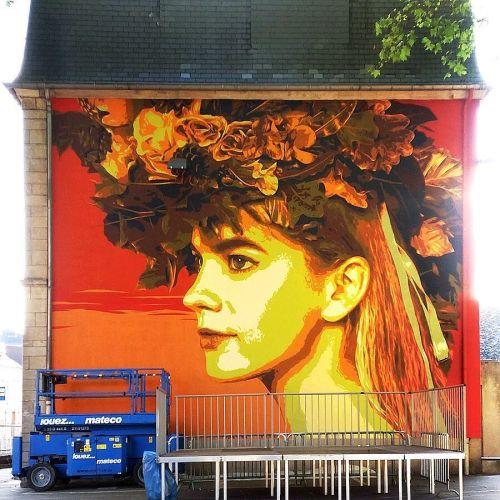 streetartglobal:  Beautiful portrait by @tankpetrol#globalstreetart #luxembourg #spraycan #stencilhttp://globalstreetart.com/tankpetrol https://www.instagram.com/p/BH18RAPjzic/