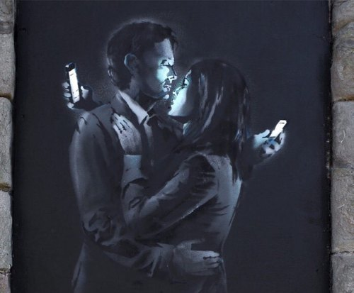 coloursxart:  Modern Romance by Banksy - Located in the UK
