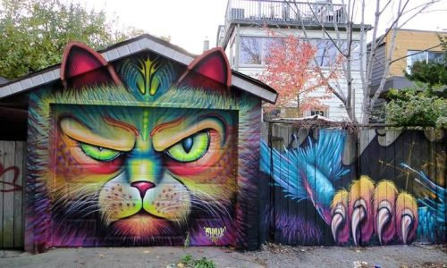 coloursxart:Mad Cat by Shalak Attack and Bruno Smoky - Located in Toronto, Canada