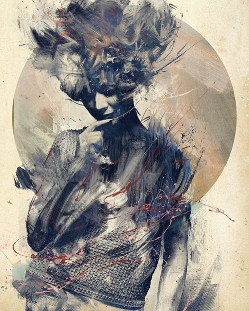 """beautifulbizarremagazine:I'm in LOVE with this gorgeous piece, """"Eurydice"""" by @byroglyphics"""