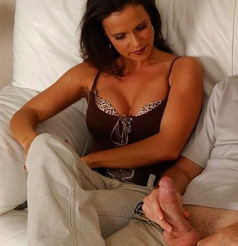 mom son chastity strapon