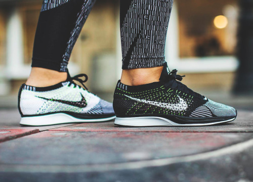 sweetsoles:  Nike Flyknit Racer - Black/White/Volt - 2016 (by chmielna20)Get them here: Nike.com / Sneakersnstuff / Overkill / End Clothing / Find more shops →