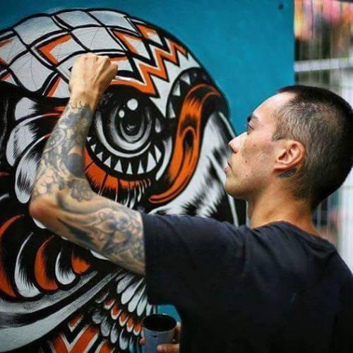 noisemx:  Iain Macarthur - Live painting for Whitecross Street Party (London, UK 07/16).