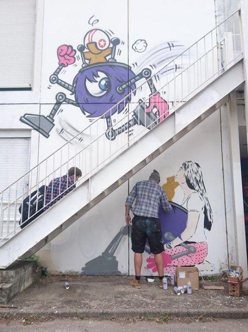 street-art-lyon:  JACE / Don Mateo http://ift.tt/2cNjvXF