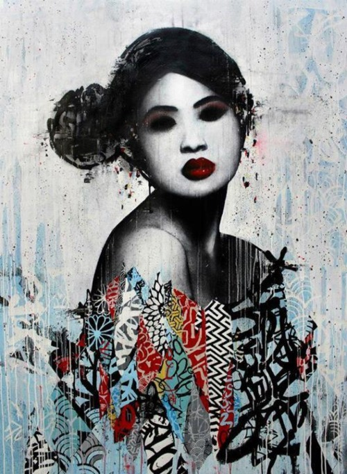 miss-mandy-m:Street art by London-based artist Hush