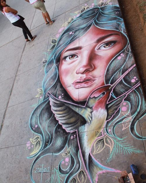"streetartglobal:Something a little bit different now from @zelva_1 …""nunash"" the story of Sleeping Beauty recreated in a floor chalk drawing. Stunning http://globalstreetart.com/joe-nadie#globalstreetart #zelva1 #chalk #floorart #sleepingbeauty https://www.instagram.com/p/BIDTnkmDfRQ/"
