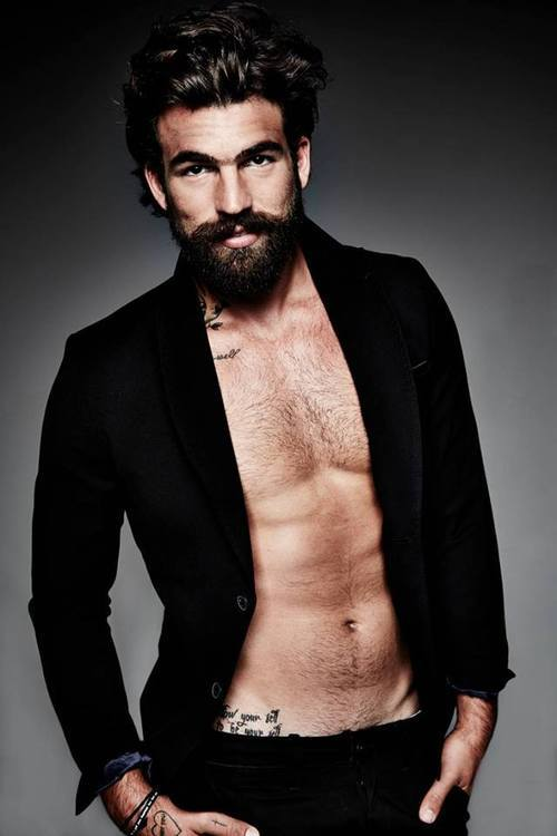 mens hairstyles with beards