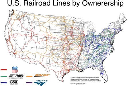 mapude us railroad lines by ownership