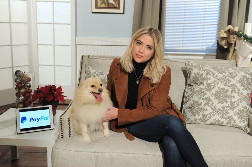 dailyactress: Ashley Benson – Promoting PayPal's #GivingTuesday