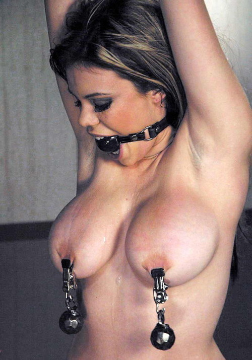 And medical clamps fetish nipple
