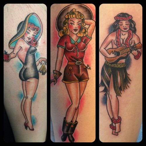 @broadstreettattooThanks for looking and ❤️ing#tattoo #traditionaltattoo #sailorjerry #pinupgirl #boldwillhold #henryonly