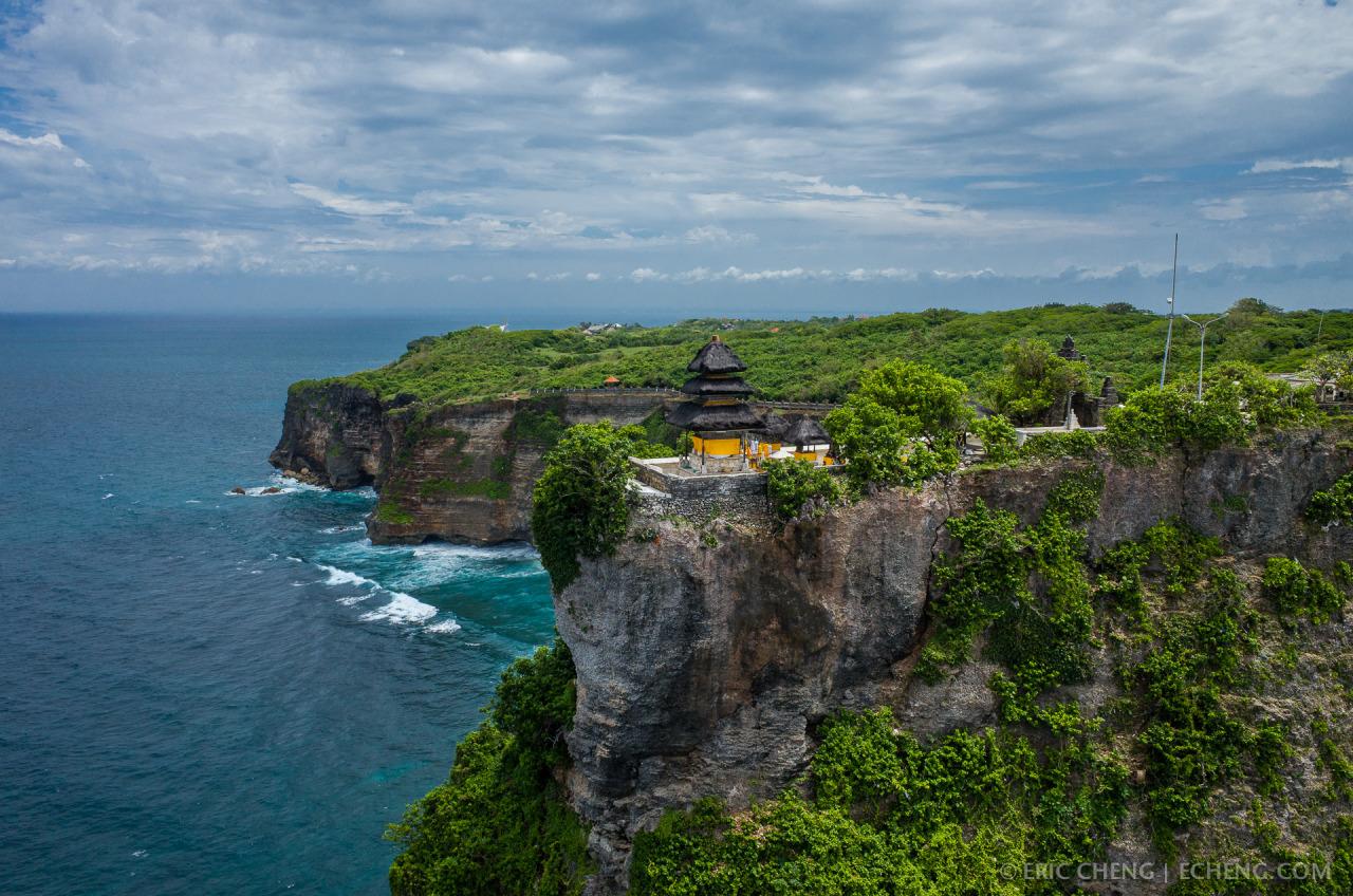 a rare perspective of pura luhur a balinese sea temple at uluwatu on bali