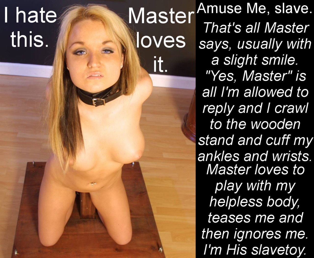 Black master training white bbw slave