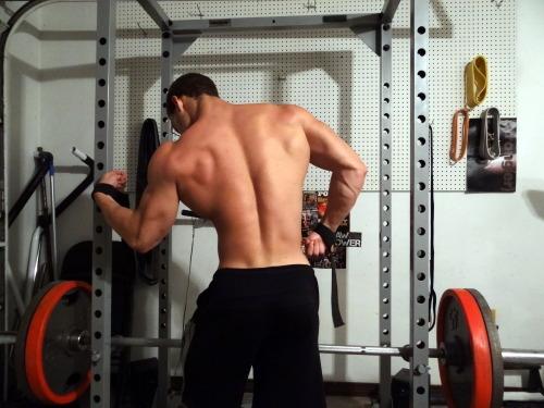 squatting hairy men