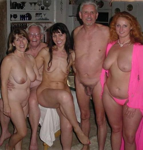 only nudist family at home