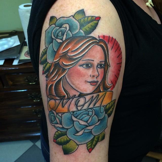 Good weekend everyone!@broadstreettattoo #tattoo #mom #boldwillhold #henryonly