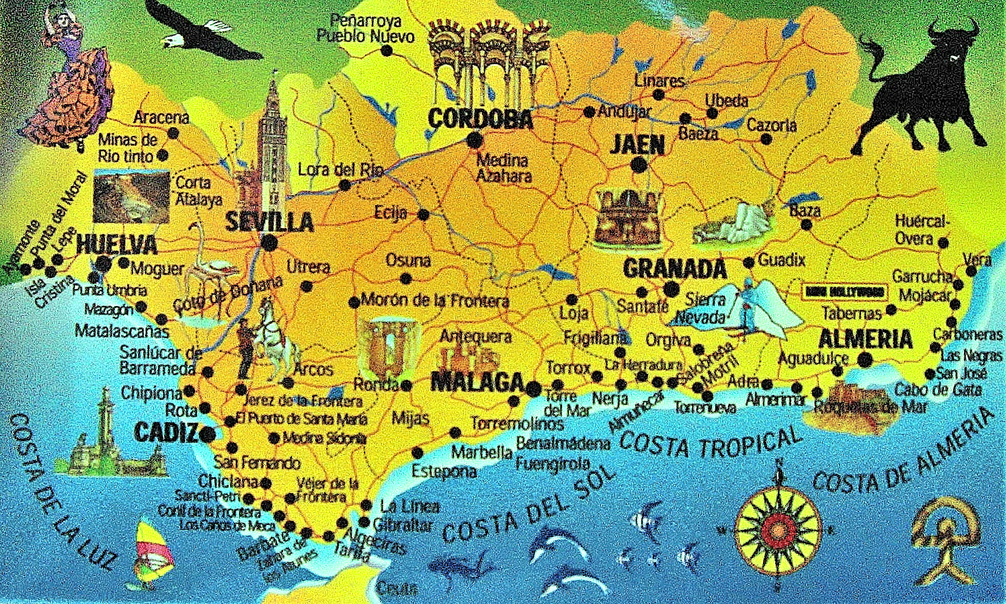 map spain andalucia