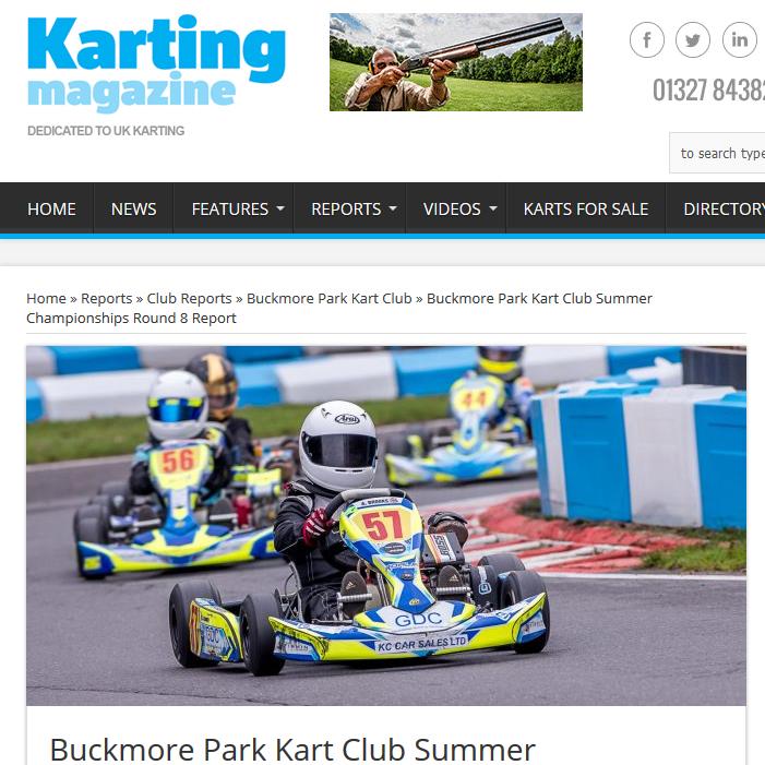 Buckmore Park Kart Club Summer Championships Round 8 Report