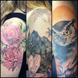 a-few-recent-tattoos-i-hadnt-posted-flowers
