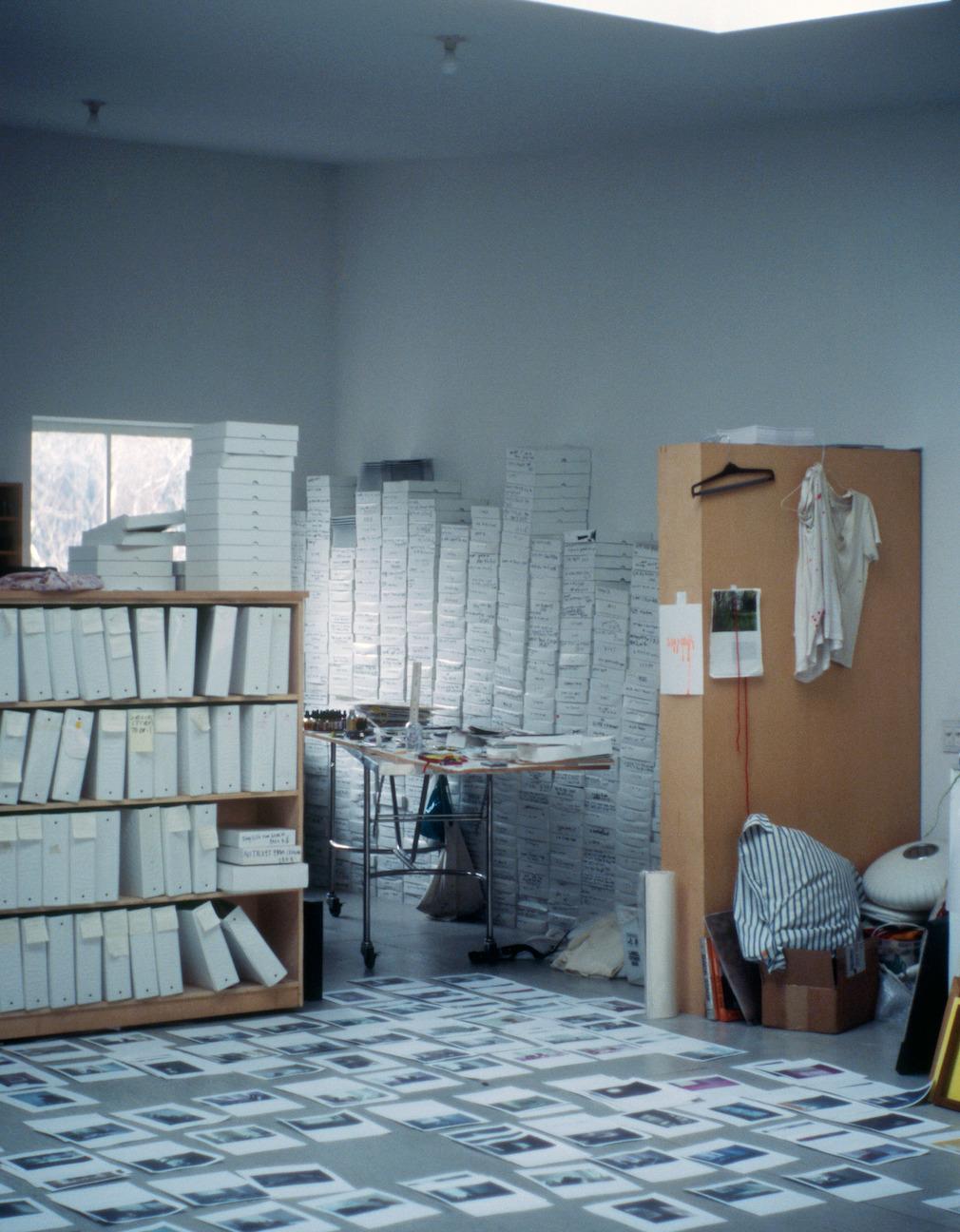 marceloagomes:  Mark Borthwick's studio, circa 2007.