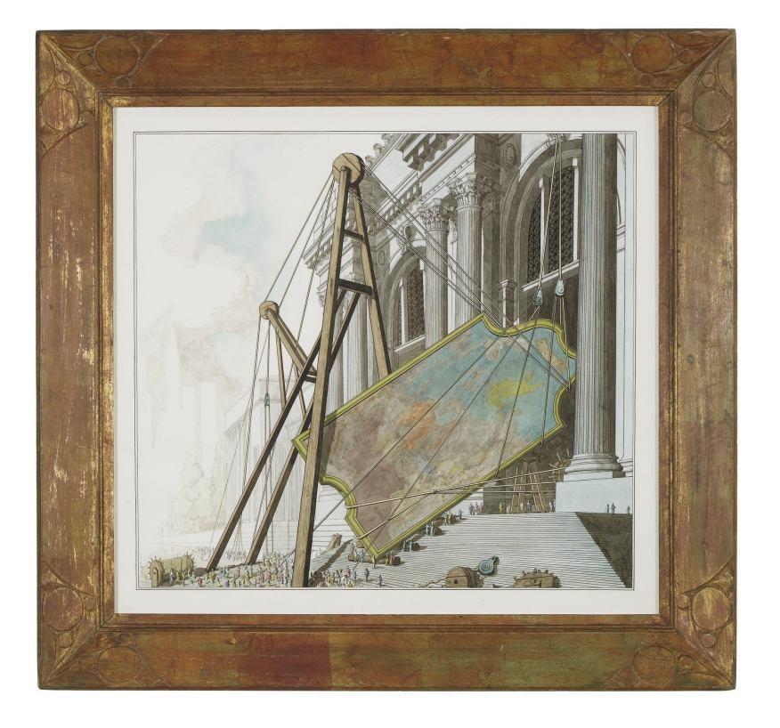 """""""Tiepolo's Triumph of Marius Entering the Metropolitan Museum of Art"""" (2013) Pablo Bronstein"""