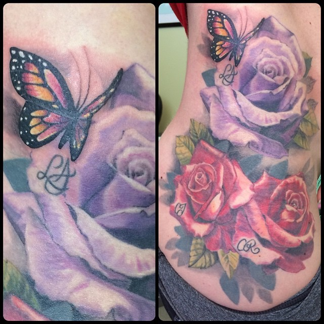 we-added-a-lil-butterfly-to-this-family-rose