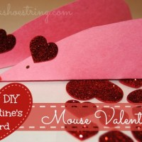 Cute and Easy Mouse is a Kid's DIY Valentine's Day Card
