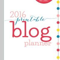 Free Printable 2016 Blog Planner