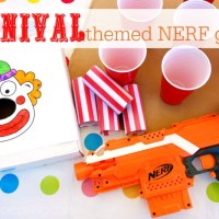 Create a Backyard Midway with Carnival Themed NERF Games