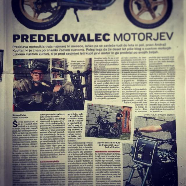 7sevencustoms in slovenske novice sloveniannewspaper custom motorcycles and kustomculture communityhellip