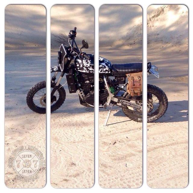 custom kawasaki KLR650 monster scrambler on the road motorcyclesofinstagram 77hellip