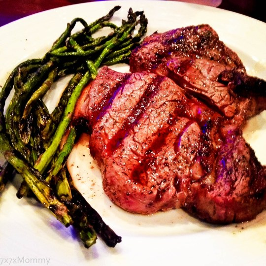 Big Green Egg Rib-Eye and Asparagus