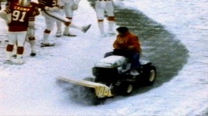 The infamous snow plow game.