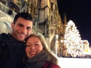 Marienplatz during Christmas.