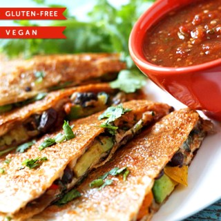 Absolutely Amazing Veggie Quesadillas 86lemons.com