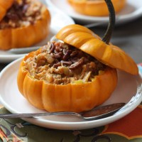 Harvest Vegetable Stew in Mini Pumpkins (vegan, gf)