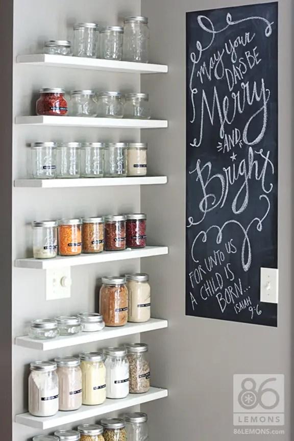 Open Pantry Using Bookshelves: Detox Week 4 + DIY Open Pantry Shelves